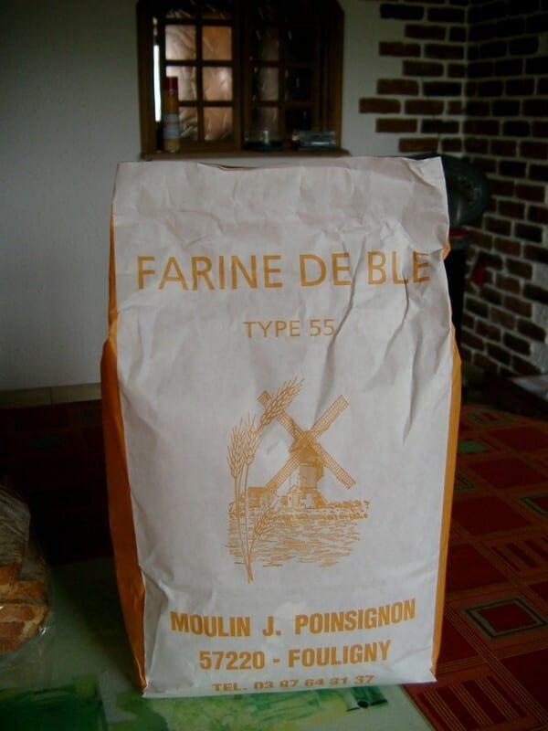 FARINE DE BLE T55 MOULIN POINSIGNON FOULIGNY 2,5kg